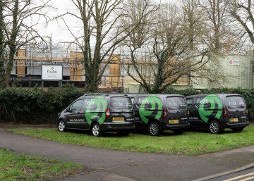 new Helix van fleet in action