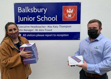 Yasamin Aldoori, Deputy Head Teacher at Balksbury Federation, works at just one of the seven schools whose pupils have so far benefited from the 100 tablets bought with the £5,600 raised by Ryan Rawlinson's Tablets for Children campaign.