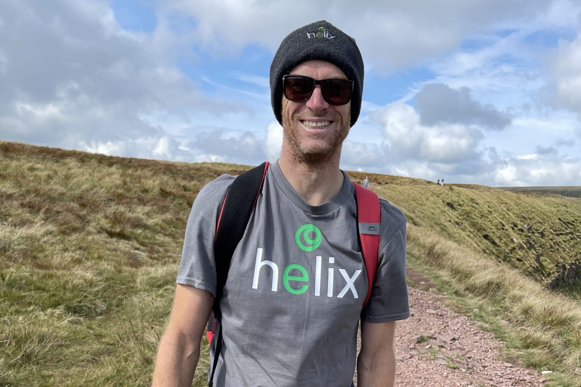 Chris Oxley in the brecon beacons